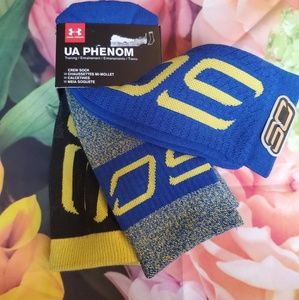 nwt 3 under armour mens curry socks new